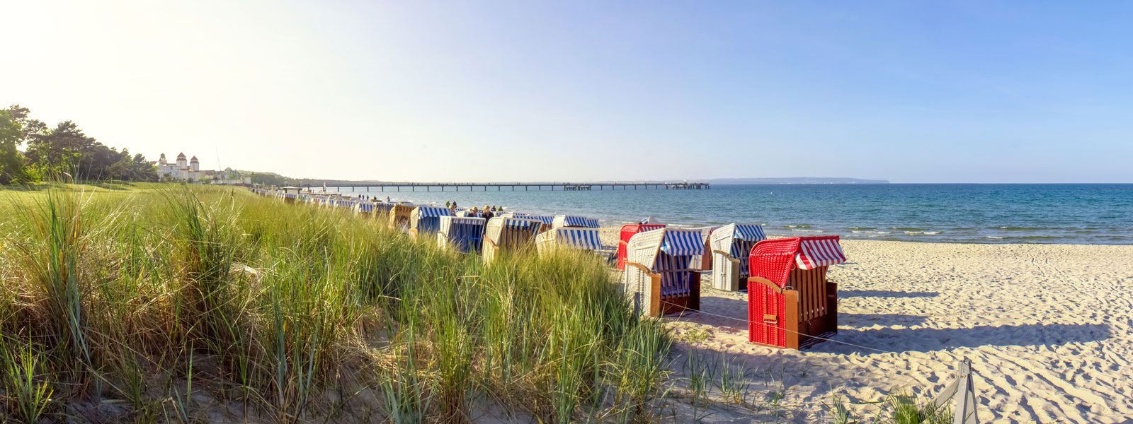 Strandkörbe Ostsee Villa Monika Ferienwohnung Rügen